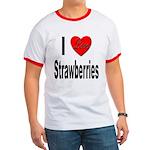 I Love Strawberries Ringer T