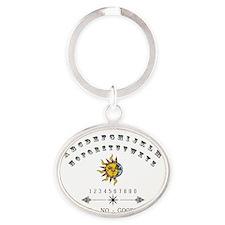 Cute Board ouija Oval Keychain