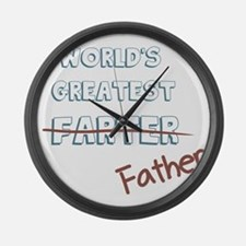 World's Greatest Father Large Wall Clock