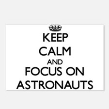Keep Calm And Focus On Astronauts Postcards (Packa
