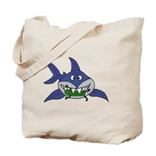Shark Eating Pickle Man Tote Bag