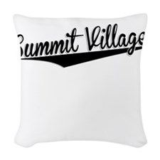 Summit Village, Retro, Woven Throw Pillow