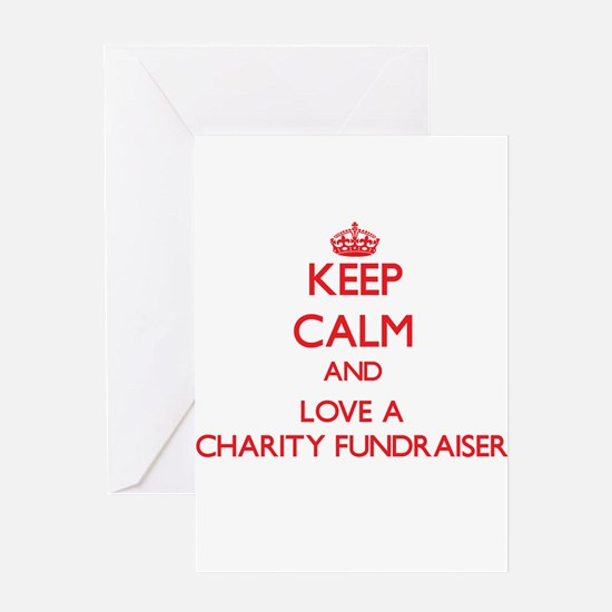 Keep Calm and Love a Charity Fundraiser Greeting C