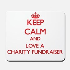 Keep Calm and Love a Charity Fundraiser Mousepad