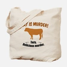 Meat is Murder! Tote Bag
