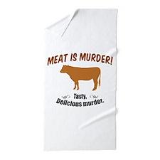 Meat is Murder! Beach Towel