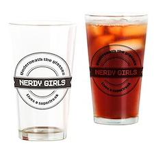 Nerdy Girls Drinking Glass
