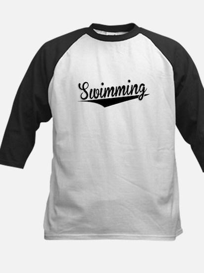 Swimming, Retro, Baseball Jersey