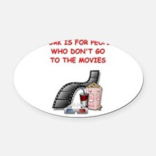 MOVIES2 Oval Car Magnet
