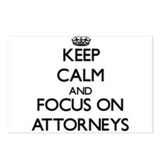 Keep Calm And Focus On Attorneys Postcards (Packag