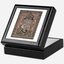 Queen Victoria Bookplate Keepsake Box