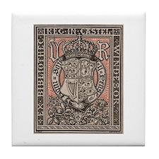 Queen Victoria Bookplate Tile Coaster