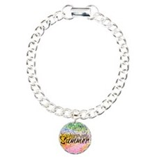 Forever Summer, Abstract Rainbow Typography Bracelet