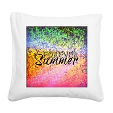 Forever Summer, Abstract Rainbow Typography Square