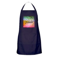 Forever Summer, Abstract Rainbow Typography Apron