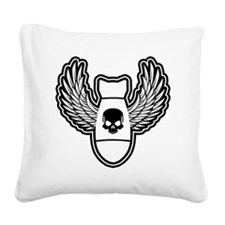 Winged bomb Square Canvas Pillow