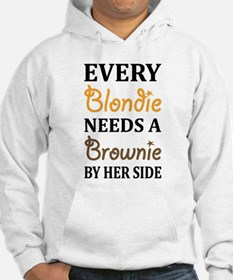Every Blondie Needs A Brownie Best Friend Hoodie
