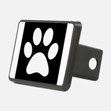 Black and white Paw print Hitch Cover