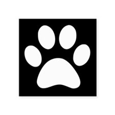 Black and white Paw print Sticker