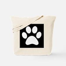 Black and white Paw print Tote Bag