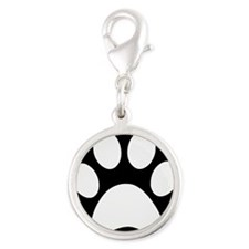 Black and white Paw print Charms