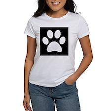 Black and white Paw print T-Shirt