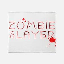 Zombie Slayer Blood Gem Throw Blanket