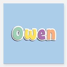 "Owen Spring14 Square Car Magnet 3"" x 3"""