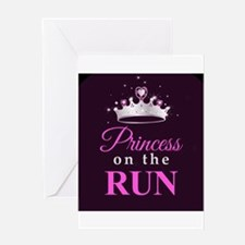 Princess on the Run Greeting Cards