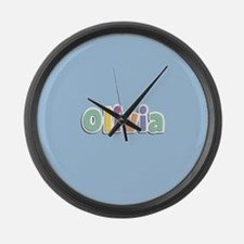 Olivia Spring14 Large Wall Clock