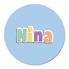 Nina Spring14 Round Car Magnet