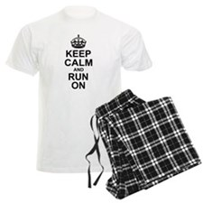 Keep Calm Run On Pajamas