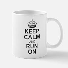Keep Calm Run On Mugs