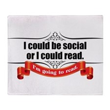 I Could be Social Throw Blanket