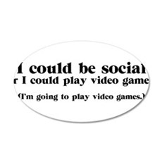 I Could be Social Wall Decal