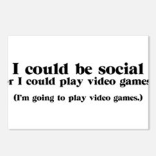 I Could be Social Postcards (Package of 8)