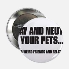 """Spay and Neuter 2.25"""" Button (10 pack)"""