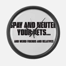 Spay and Neuter Large Wall Clock