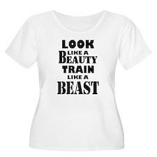 Look Like A Beauty Train Like A Beast Plus Size T-
