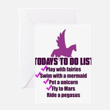 Todays To Do List Greeting Cards