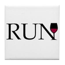 Run for Wine Tile Coaster