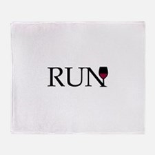 Run for Wine Throw Blanket