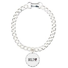 Run for Wine Charm Bracelet, One Charm