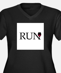 Run for Wine Plus Size T-Shirt