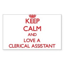 Keep Calm and Love a Clerical Assistant Decal