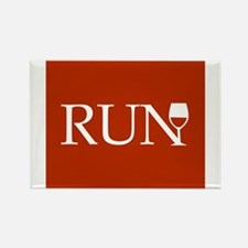 Run for Wine - red Magnets