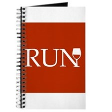 Run for Wine - red Journal
