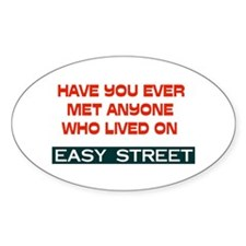 EASY STREET Oval Decal