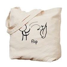 Flip the Bird (dark) Tote Bag