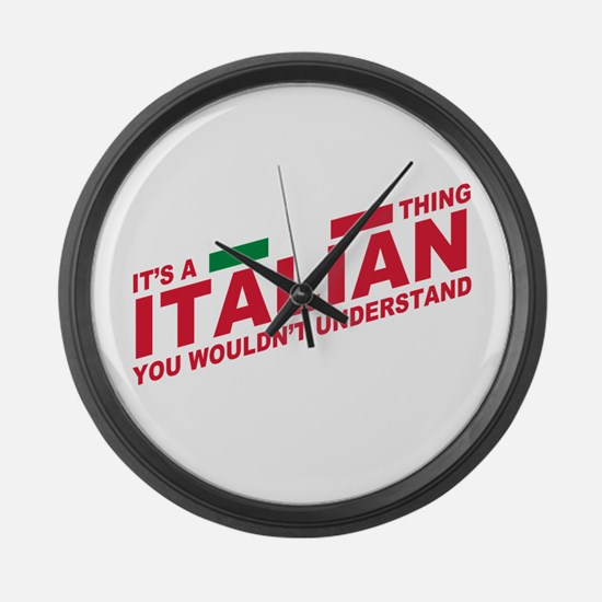 Italian thing Large Wall Clock